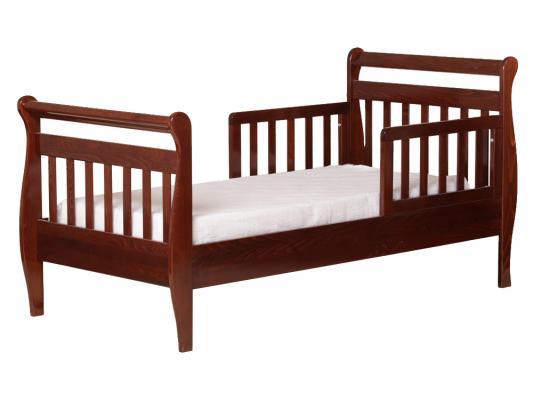 Кровать подростковая без ограждений Лель Юнона БИ04 (орех темный)