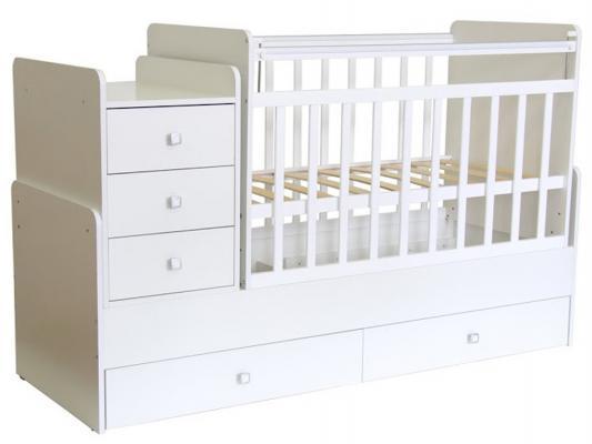 Кроватка-трансформер Фея 1100 (белый/арт 10339)