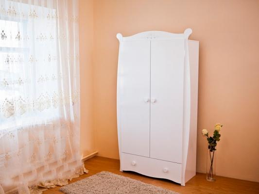 Шкаф двухстворчатый Красная Звезда С538 (белый/декор №2 бабочка)