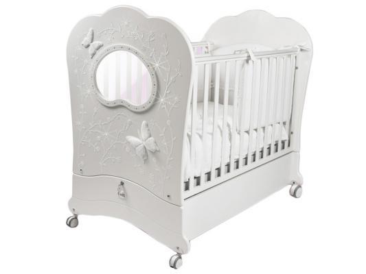 Кроватка с маятником Feretti FMS Oblo Charme Brillante (bianco)