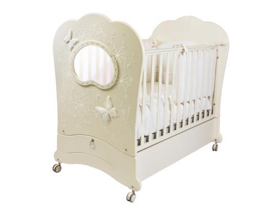 Купить Кроватка с маятником Feretti FMS Oblo Charme Brillante (avorio), слоновая кость, бук, Кроватки с маятником