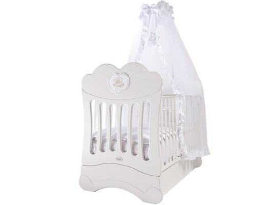 Кроватка с маятником Feretti FMS Chaton (bianco) кроватка с маятником feretti fms oblo majesty brillante bianco