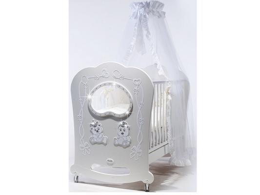 Кроватка-качалка Feretti Oblo Majesty Brillante (bianco)