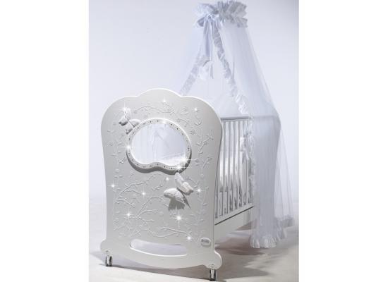 Кроватка с маятником Feretti FMS Oblo Majesty Brillante (bianco) кроватка с маятником feretti fms elite avorio