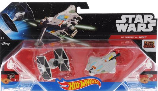 Купить Игровой набор Hot Wheels 2 звездных корабля Star Wars Tie Fighter vs Ghost от 4 лет CGW90, Hot Wheels (Mattel), для мальчика