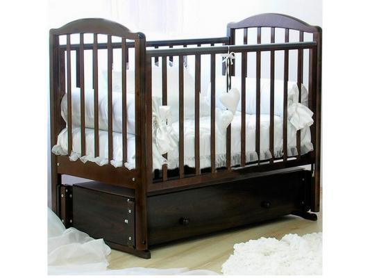 Кроватка с маятником Красная Звезда Регина (шоколад/накладка №23)