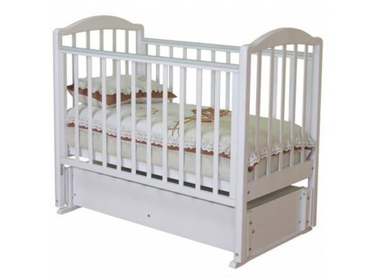 Кроватка с маятником Красная Звезда Регина (белый/накладка №23) кроватка с маятником красная звезда уралочка с 744 белый