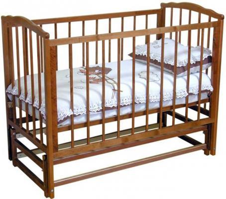 Кроватка с маятником Красная Звезда Кристина С614 (красно-коричневый)