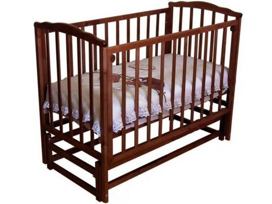 Купить Кроватка с маятником Красная Звезда Кристина С619 (шоколад), Красная звезда, массив березы, Кроватки с маятником