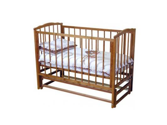 Кроватка с маятником Красная Звезда Кристина С619 (красно-коричневый) кроватка с маятником красная звезда агата с718 белая накладка ростомер 11