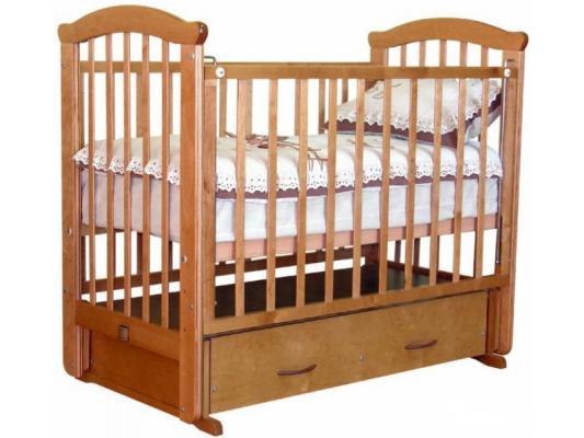 Кроватка с маятником Красная Звезда Ирина (медовый) кроватка с маятником красная звезда ирина слоновая кость