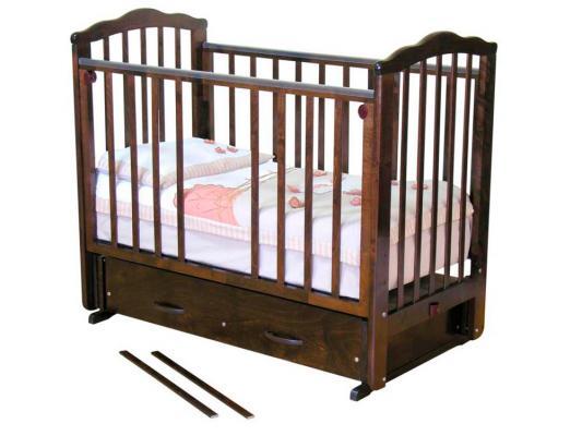 Кроватка с маятником Красная Звезда Элина (шоколад) кроватка с маятником красная звезда артем шоколад накладка 6 шарлотта