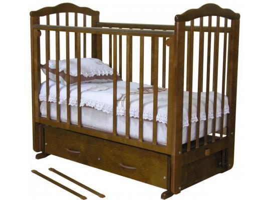 Кроватка с маятником Красная Звезда Элина (красно-коричневый)