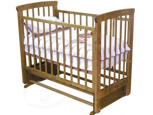 Кроватка с маятником без ящика Красная Звезда Марина (медовый)