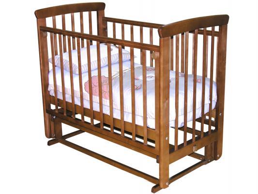 Кроватка с маятником без ящика Красная Звезда Марина (красно-коричневый)