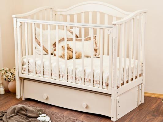 Кроватка с маятником Красная Звезда Леонардо (слоновая кость)