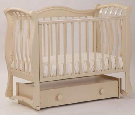 Купить Кроватка с маятником Лель Маргаритка БИ08.4 (темный орех), бук, Кроватки с маятником