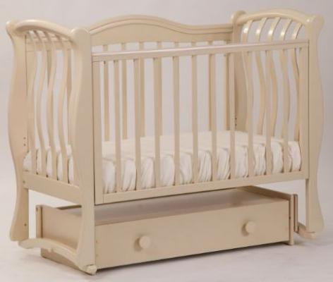 Купить Кроватка с маятником Лель Маргаритка БИ08.4 (светлый орех), бук, Кроватки с маятником