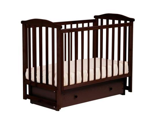 Купить Кроватка с маятником Лель Лютик АБ15.2 (махагон), бук, Кроватки с маятником