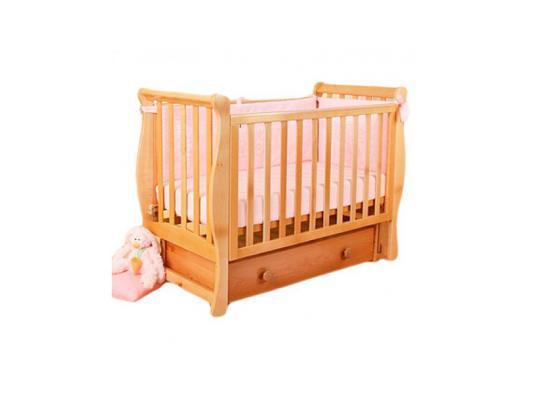 Купить Кроватка с маятником Лель Лаванда АБ21.2 (натуральный бук), Кроватки с маятником