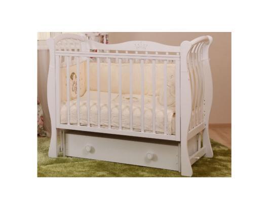 Кроватка с маятником Лель Ландыш БИ07.2 (белый) серьги с кошачьим глазом лель снкг 1720