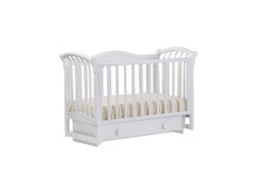 Кроватка с маятником Лель Азалия БИ10.2 (белый) кроватка с маятником лель азалия би10 2 светлый орех