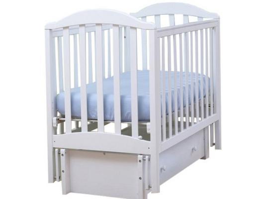 Кроватка с маятником Лель Лютик АБ15.3 (белый)