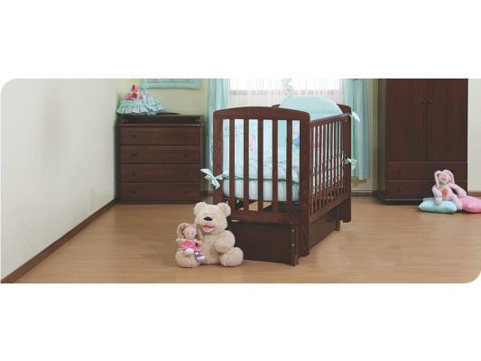 Купить Кроватка с маятником Лель Ромашка АБ16.3 (махагон), бук, Кроватки с маятником