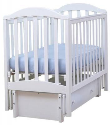 Кроватка с маятником Лель Лилия АБ17.3 (белый)