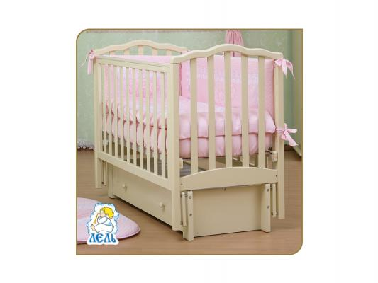 Кроватка с маятником Лель Жасмин АБ19.3 (слоновая кость) кроватка с маятником sweet baby eligio avorio слоновая кость