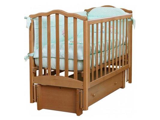 Кроватка с маятником Лель Жасмин АБ19.3 (натуральный бук)