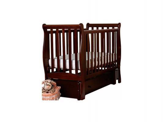 Кроватка с маятником Лель Лаванда АБ21.3 (махагон) кроватка с маятником лель василёк би09 3 махагон