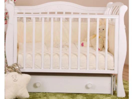 Кроватка с маятником Лель Маргаритка БИ08.3 (белый) серьги с кошачьим глазом лель