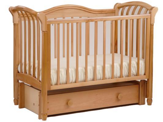 Кроватка с маятником Лель Азалия БИ10.3 (натуральный бук)