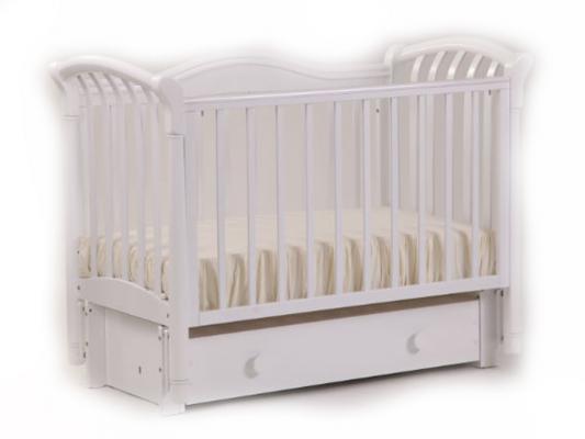 Кроватка с маятником Лель Азалия БИ10.3 (белый) кроватка качалка лель лютик аб 15 1 белый