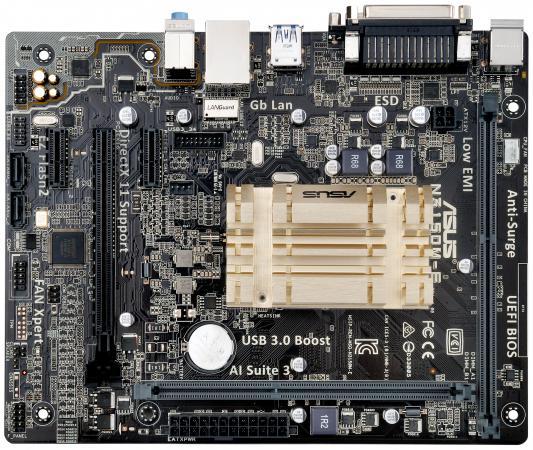 Мат. плата для ПК ASUS N3150M-E с процессором Intel 2xDDR3 1xPCI-E 16x 2xPCI-E 1x 2xSATAIII mATX Retail