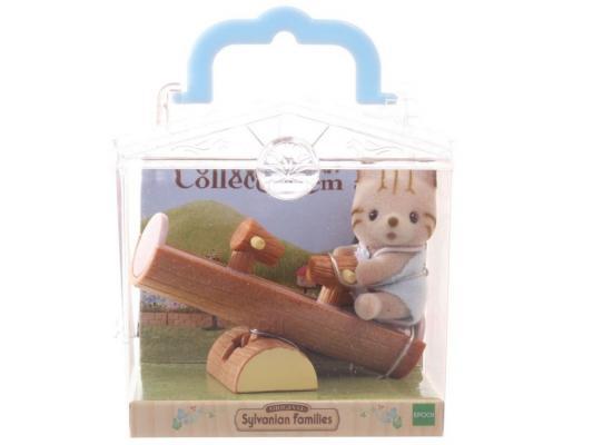 Игровой набор Sylvanian Families Младенец в пластиковом сундучке. Котенок на бревне-качелях от 3 лет 2 предмета 3380