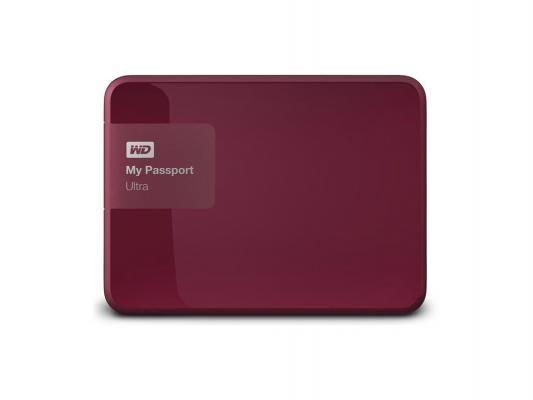 Внешний жесткий диск 2.5 USB3.0 3 Tb Western Digital My Passport Ultra WDBNFV0030BBY-EEUE пурпурный