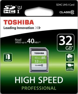 Карта памяти SDHC 32Gb Class 10 Toshiba SD-T032UHS1(6
