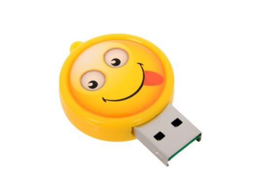 Картридер внешний CBR Human Friends Speed Rate Smile MicroSD USB 2.0 желтый