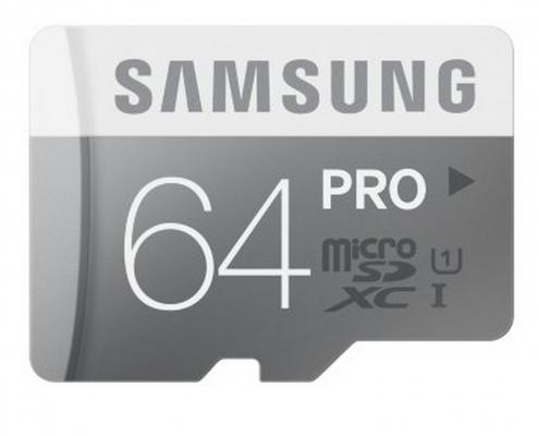Карта памяти Micro SDXC 64Gb Class 10 Samsung MB-MD64DA/RU + SD adapter