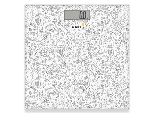 Весы напольные Unit UBS-2052 серый рисунок unit ubs 2053 light gray весы напольные электронные