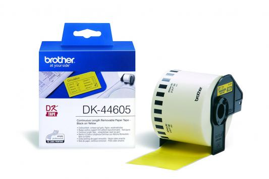Наклейки Brother DK44605 62мм клеящаяся желтый