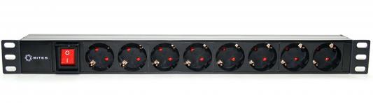 Блок розеток 5bites PDU819P-08 черный 8 розеток блок розеток цмо rem 16 r 16 9s i 440 1 8 9 розеток 1 8 м черный