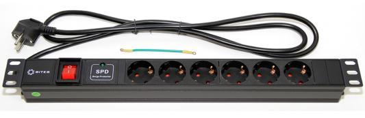 Блок розеток 5bites PDU619A-06 черный 6 розеток 1.8 м
