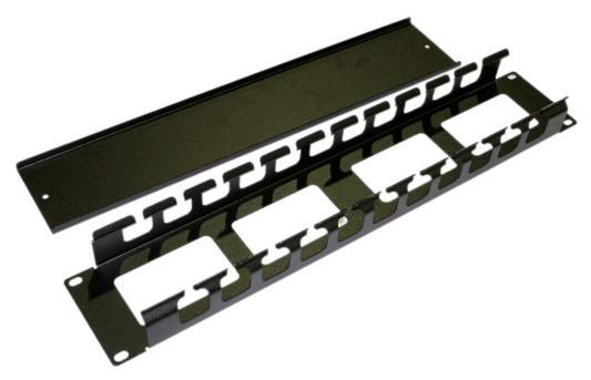 Кабельный организатор Hyperline CM-2U-ML-COV с металлическими кольцами и крышкой 19 2U