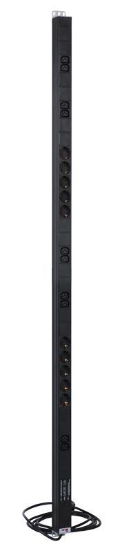Блок розеток ЦМО R-16-10S-10C13-FI-1420-3 черный 10 розеток 3 м