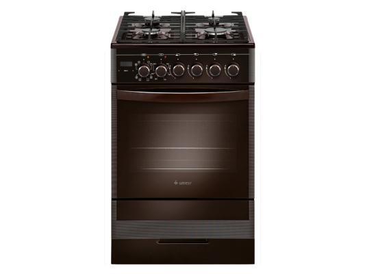 Комбинированная плита Gefest ПГЭ 5502-03 0045 коричневый