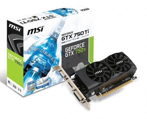 Видеокарта 2048Mb MSI GeForce GTX750Ti 128bit GDDR5 PCI-E DVI HDMI HDCP N750TI-2GD5TLP Retail