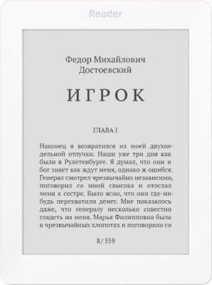 "Электронная книга Reader Book 2 6"" E-ink Pearl 800x600 256Mb 4Gb белый RB2-WB-RU"